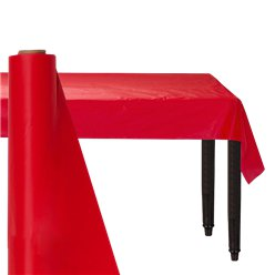 Red Plastic Banqueting Roll - 30m