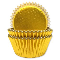Gold Foil Finish Cupcake Cases - 4.8cm