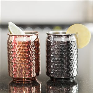 Metallic Can Cups - Stainless Steel