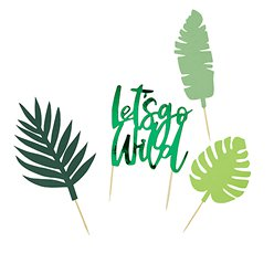 Let's Go Wild Tropical Cake Topper