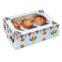 Pirates Cupcake Box - 6 Cupcakes