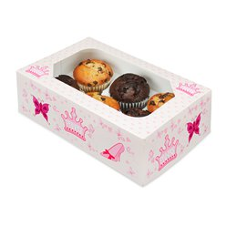 Princess Cupcake Box - 6 Cupcakes