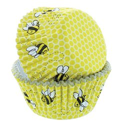 Bee Honeycomb Cupcake Cases