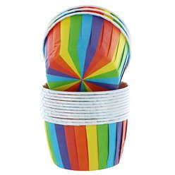 Rainbow Baking Cups Boxed - 6cm