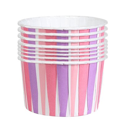 Pink Striped Baking Cups Boxed - 6cm