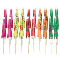 Cocktail Umbrella Picks Assortment - 10cm