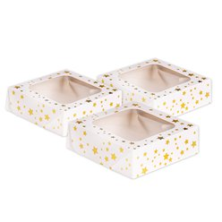 Gold Stars Square Treat Boxes