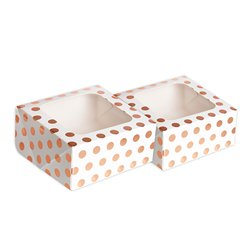 Rose Gold Square Treat Boxes - 16cm
