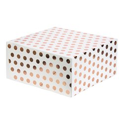 Rose Gold Polka Dot Cake Box - 10""