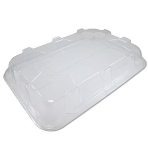 Clear Plastic Rounded Rectangular Platter Lid - 46cm