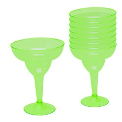 Kiwi Green Plastic Margarita Glasses - 295ml