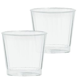Premium Clear Plastic Tumbler Glasses - 266ml