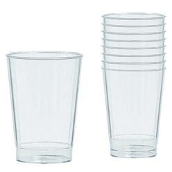 Clear Plastic Tumbler Glasses - 340ml