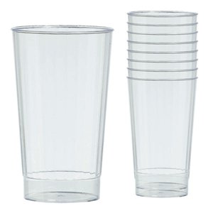 Clear Plastic Tumbler Glasses - 455ml