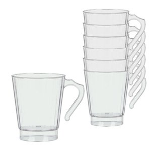 Clear Plastic Coffee Cups - 227ml