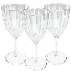 Premium Clear Plastic Wine Glasses - 227ml