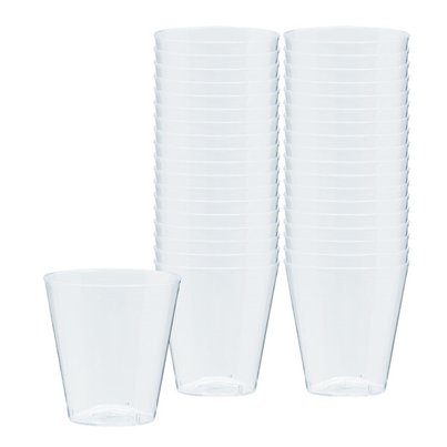 Clear Plastic Shot Glasses - 56ml