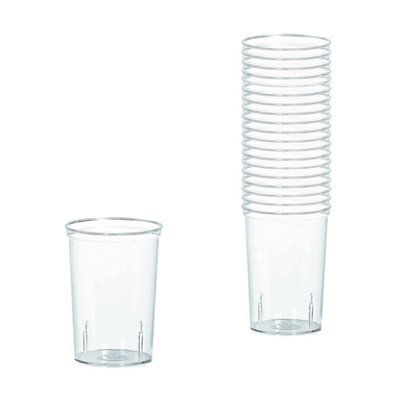 Clear Plastic Shooter Glasses - 42ml