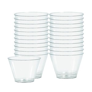 Clear Plastic Tumbler Glasses - 142ml