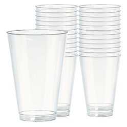 Clear Plastic Tumbler Glasses - 414ml