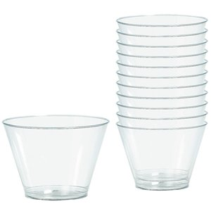 Clear Plastic Tumbler Glasses - 255ml