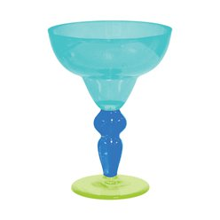 Cool Tone Plastic Margarita Glasses - 261ml