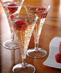 Clear Plastic Mini Champagne Flutes - 71ml