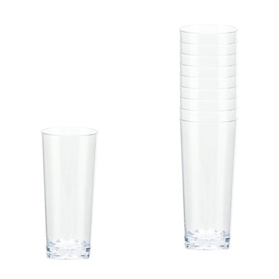Clear Plastic Mini Cordial Glasses - 56ml