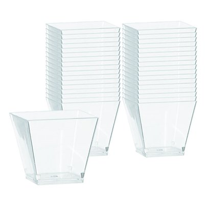 Clear Plastic Mini Cocktail Cubes - 59ml