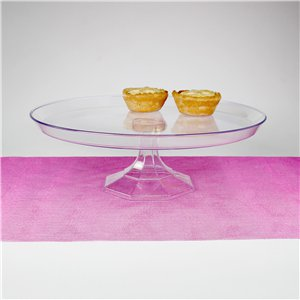 Clear Plastic Dessert Stand - 25cm