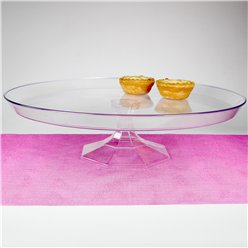 Clear Plastic Dessert Stand - 35cm