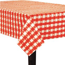 Gingham Plastic Tablecover - 2.74m x 1.37m