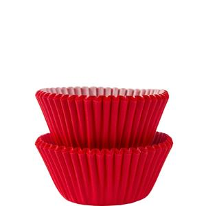 Red Mini Cupcake Cases - 3cm