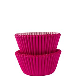 Hot Pink Mini Cupcake Cases - 3cm