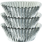 Silver Cupcake Cases - 5cm