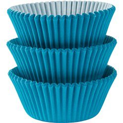 Caribbean Blue Cupcake Cases - 5cm