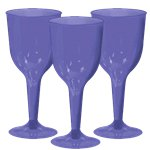 Purple Plastic Wine Glasses - 295ml