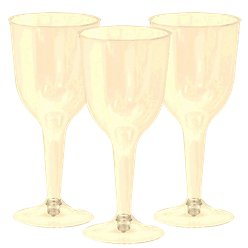 Ivory Plastic Wine Glasses - 295ml