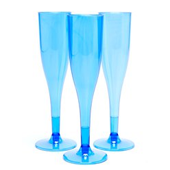 Royal Blue Plastic Champagne Flutes - 162ml