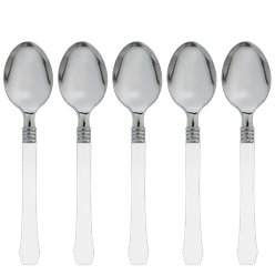 Premium White Reusable Spoons - 20pk