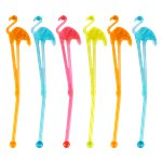 Multicoloured Flamingo Stirrers