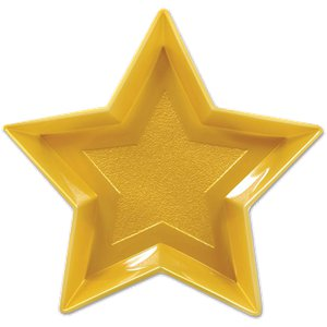 Plastic Gold Star Tray
