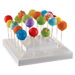 White Cake Pops Stand - 25cm Plastic Stand