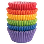 Bright Rainbow Cupcake Cases - 5cm