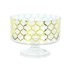 Metallic Gold Plastic Trifle Container - 14cm
