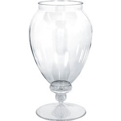 Clear Plastic Apothecary Jar - 2.4L