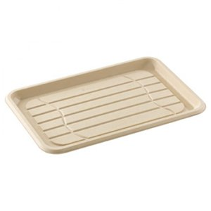 Eco Friendly Pulp Rounded Rectangular Platter - 46cm
