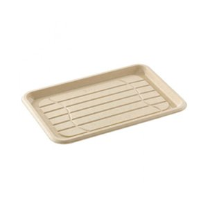 Eco Friendly Pulp Rounded Rectangular Platter - 35cm