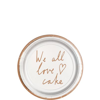 Cake Stands We All Love Cake Dessert Plates - 13cm
