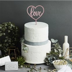 Wedding Rose Gold Love Cake Topper - 23cm